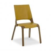 4 SOCKS krēsls ar ādas apdari