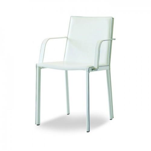 Ādas krēsls ar roku balstiem ALEXIA P