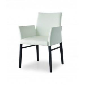 Ādas krēsls ar roku balstiem BLOOM P