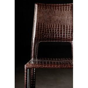 Ādas krēsls ELOISE no ekspozīcijas