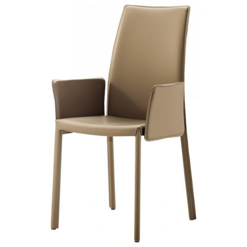 Ādas krēsls ar roku balstiem GIADA P
