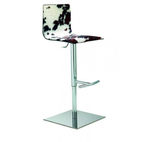 Ādas bāra krēsls ar maināmu augstumu SERVICE G