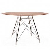 Apaļš galds GLAMOUR W (rieksta virsma)