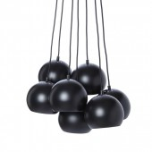 BALL MULTI griestu lampa melns/balts