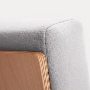 Sofa Fin 2 bez roku balstiem / metāls-hroms