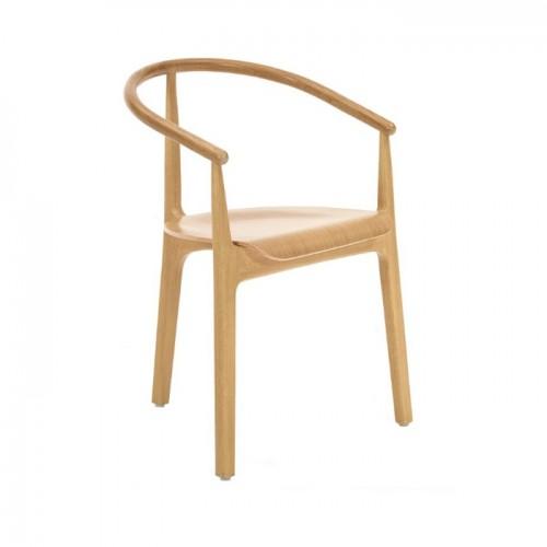 EVO koka krēsls uz trīs kājām