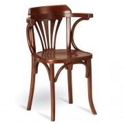B-5173 vīnes tipa koka krēsls ar roku balstiem