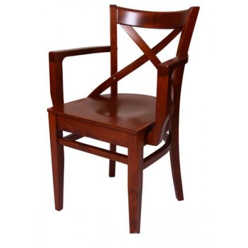 B-5245 vīnes tipa koka krēsls ar roku balstiem