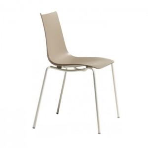 Krēsls ZEBRA TEHNOPOLYMER (krāsota met.kājas)