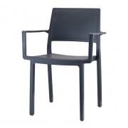 Plastmasas krēsls ar roku balstiem KATE