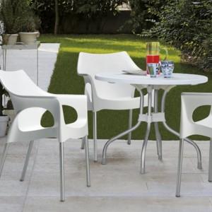 Apaļš dārza galds RIBALTO