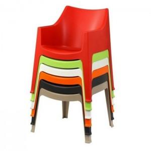 Plastmasas krēsls COCCOLONA ar roku balstiem
