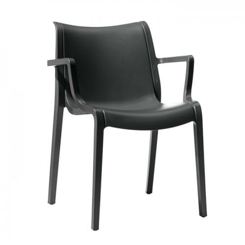 EXTRAORDINARIA plastmasas krēsls ar roku balstiem
