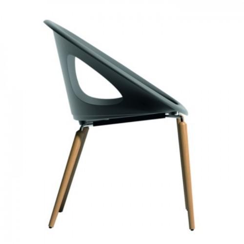 Krēsls ar koka kājām NATURAL DROP
