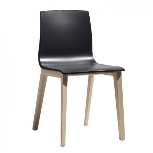 Krēsls ar koka kājām SMILLA TECHNOPOLYMER