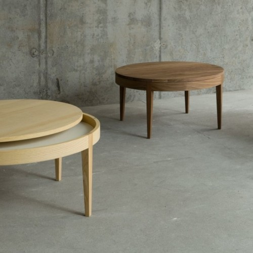 Žurnālu galds SECRET wood d=80