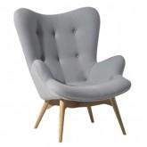 Atpūtas krēsls  ar kājsoliņu MILANO LOUNGE CHAIR no ekspozīcijas
