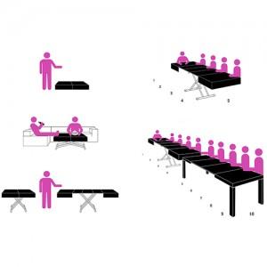 Transformējams galds ITACA